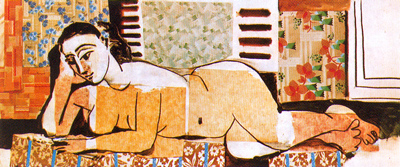 Picasso - Great Reclining Nude with Crossed Arms (1955)